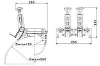 ZRO 500 Pipe Saddle Clamp Schematic